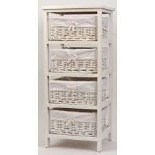 panier rangement chambre b meuble bois et 4 paniers en osier achat vente petit meuble