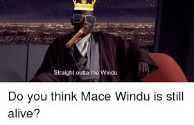 Mace Windu Meme - straight outta the windu do you think mace windu is still alive