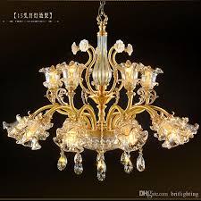 led lighting for banquet halls living room dining room crystal chandeliers drops copper villa hotel