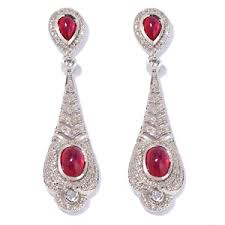 ramona singer earrings ramona singer ruby diamond and topaz estate style sterling silver