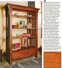 Furniture Plans Bookcase by Arts And Crafts Bookcase Plans U2022 Woodarchivist