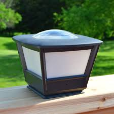 fence post solar lighting 4x4 and 6x6 fence post cap solar lights
