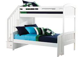 cottage colors white twin full step bunk bed full beds white