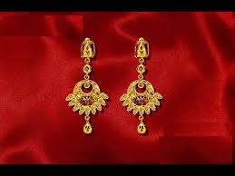 gold earrings designs light weight gold jewellery