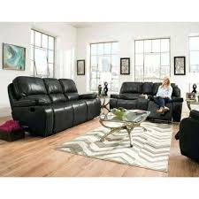 sofa loveseat recliner set alpine 3 piece black sofa recliner