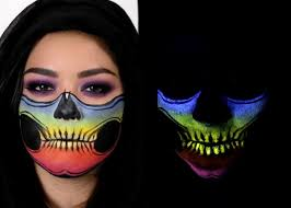 Youtube Halloween Makeup by Skeleton Face Mask Glow In The Dark Halloween Makeup Youtube