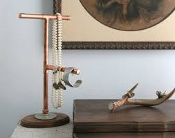 display holder necklace images Over on ehow diy copper pipe jewelry display holder 17 apart jpg