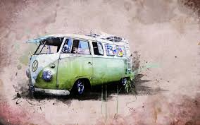hippie volkswagen drawing green vw volkswagen combi van bus wallpaper 2560x1600 jpg 2560