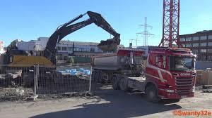 2017 volvo semi truck 4k volvo ec480e excavator loading scania semi trucks youtube