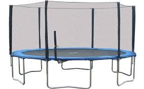 super jumper 16 u0027 round trampoline with safety enclosure u0026 reviews