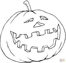 smiling pumpkin coloring page free printable coloring pages
