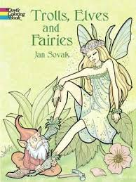 trolls elves fairies coloring book sovak 9780486423821