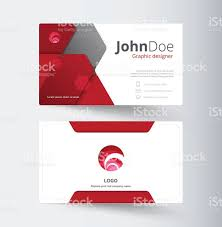 red abstract business contact card template design stock vector