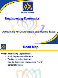 accounting for depreciation and income taxes engineering