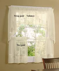 sheer yellow curtain valance unique hydrangea semi tiers and swag