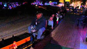 christmas lights train ride christmas mini train ride mccormick stillman railroad park youtube