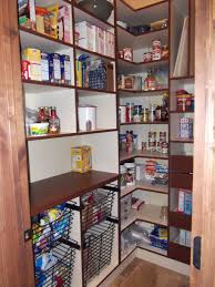 Kitchen Pantry Organization Systems - wood pantry shelving systems elegant floating black painted wooden