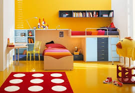yellow kids paint color ideas for bedroom home interiors