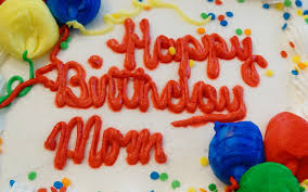 happy birthday mom red letters colorful cake hd widescreen