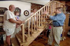 add protective stair railing to an existing staircase while