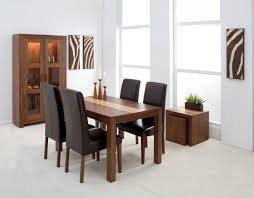 dark italian leather upholstered parsons set of four dining room