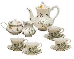 tea cup set butterfly porcelain tea service tea time tea