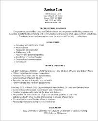 Travel Nurse Resume Sample Professional Labor And Delivery Nurse Templates To Showcase Your