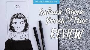 sakura pigma brush pen set im test review u0026 zeichnung youtube