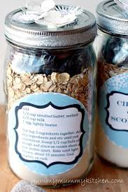 cherry oat scone mix homemade gift with printable labels yummy