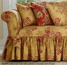 Cottage Style Slipcovers Surefit Ballad Bouquet By Waverly Slipcover Decorating For Our