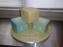 fondant baby blocks cake for baby shower thecakebaker