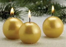 ornament candles metallic candles festive centerpiece