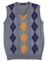 nidicus s wool blend textured argyle v neck knit check golf