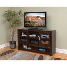 Bedrooms With Wood Floors by Brown Varnished Walnut Wood Tall Tv Stand For Bedroom With Three