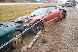 p1 crash first 2015 chevy corvette z06 convertible crashed