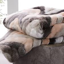 Restoration Hardware Faux Fur Faux Fur Sculpted Chevron Throw To Keep The Family Cosy During