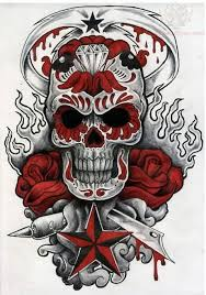 love skull roses and nautical star tattoo designs in 2017 real