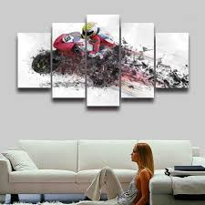 Prints For Home Decor Online Get Cheap Wall Canvas Motocross Aliexpress Com Alibaba Group