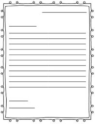 Letter Paper Template letter writing paper friendly letter by adkins tpt