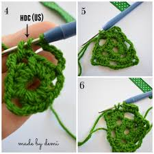 crochet christmas tree step by step instructions made by demi