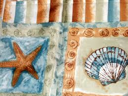 Seashell Shower Curtains Brighton Seashells And Starfish Shower Curtain Decor