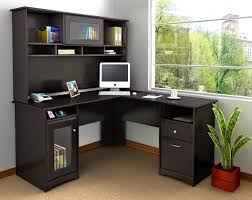 corner desk small spaces charming l shaped black wooden office desk small space complete