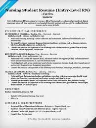 Sample Resume For Newly Graduated Student by Resume For Nursing Student 6 Entry Level Sample Uxhandy Com
