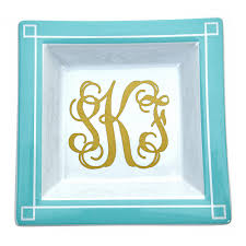 monogrammed tray monogrammed small blair tray fornash