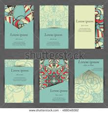 Business Cards Front And Back Set Stylish Business Card Template Abstract Stock Vector 548279530