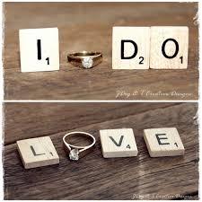 Engagement Photo Props 6 Scrabble Tiles Wedding Engagement Photo Prop Love I Do