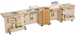 Sewing Cabinet With Lift by Sylvia Design 1810 Complete Combo Dual Sewing Machine U0026 Serger
