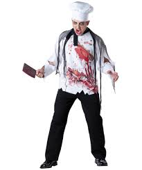 Size Halloween Costumes Men Goremet Chef Size Scary Halloween Costume