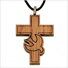 wooden crosses necklace wooden crosses with dove les créations