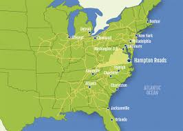 East Coast Map Usa by Maps Center Hampton Roads Economic Development Alliance